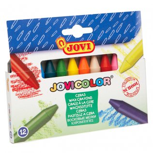 Lápices de cera Jovi 12 Colores