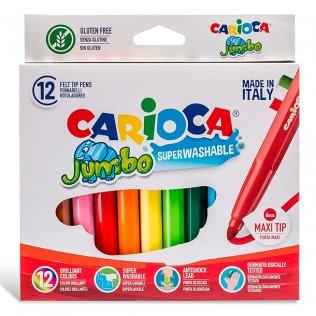Rotuladores Carioca Jumbo punta maxi 12 colores