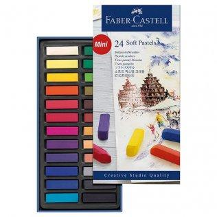 Pasteles blandos Mini Faber Castell 24 colores