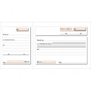 Talonario recibos 207x109mm 100 hojas Plus Office