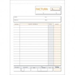 Talonario facturas 109x153mm duplicado 50 juegos natural Plus Office