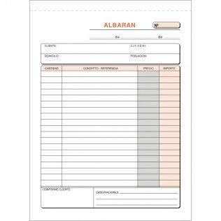 Talonario albaranes 145x207mm duplicado 50 juegos natural Plus Office