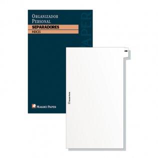 Separadores agendas anillas 97x170mm Makro Paper 20 hojas