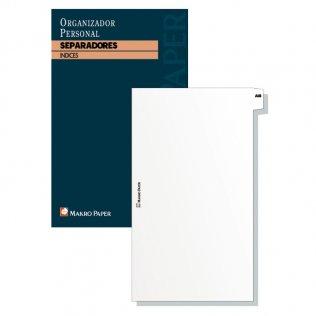 Separadores agendas anillas 77x127mm Makro Paper 20 hojas