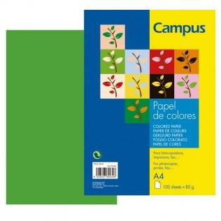 Papel A4 Verde manzana 80g 100 hojas Campus