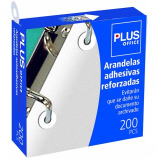 Arandelas autoadhesivas reforzadas 13mm Plus Office 200ud