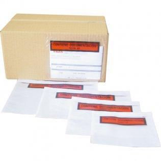 Sobres portadocumentos transparentes 162x120mm 100ud Makro Paper