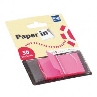 Banderitas separadoras Paper In Index rosa 50ud Plus Office