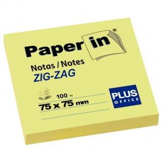 Bloc notas adhesivas amarillas Zig-Zag 75x75mm 100 hojas Paper In Plus Office