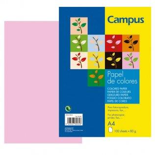 Papel A4 Rosa 80g 100 hojas Campus