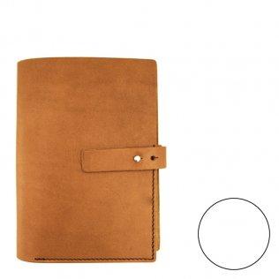 Agenda piel pequeña marrón claro rayado liso