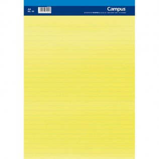 Bloc notas microperforado Campus A4 60g 50h Amarillo rayado horizontal