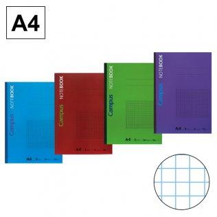 Libreta de apuntes encolada Campus A4 90g 40h cuadrícula 5mm