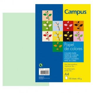 Papel A4 Verde claro 80g 100 hojas Campus