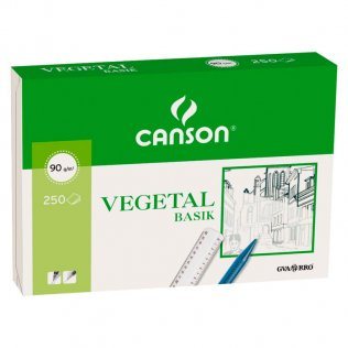 Papel vegetal Canson A4 (paq.250h.)