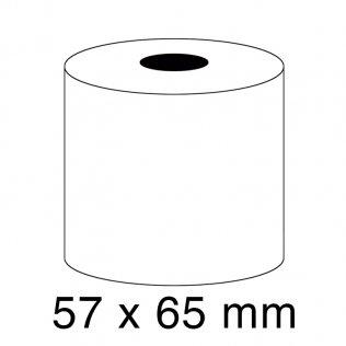 Rollo papel sumadora 1 copia 57g 57x65mm