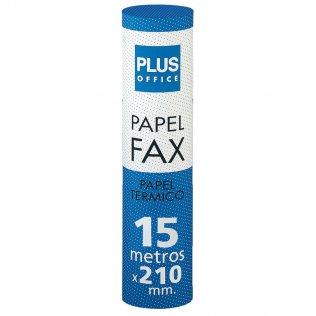Rollo papel térmico fax 210mm x 15m Plus Office