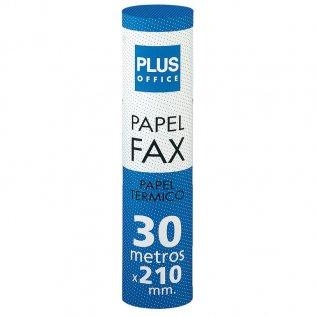 Rollo papel térmico fax 210mm x 30m Plus Office
