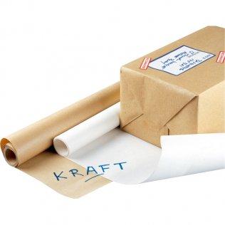 Papel de embalaje Kraft 1x25m 65g Blanco