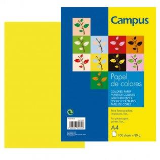 Papel A4 Amarillo 80g 100 hojas Campus