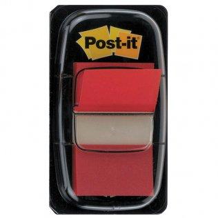 Marcapáginas Post-it rojo 25,4x43mm dispensador 50 ud