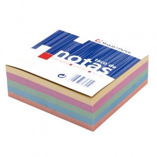 Taco de notas de colores 90x90mm 500 hojas Makro Paper