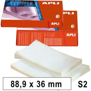 Etiquetas en continuo 88,9x36mm 2 salidas 8000ud Apli