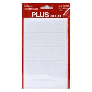 Etiquetas autoadhesivas 25 etiquetas 31x100mm 5 hojas Plus Office