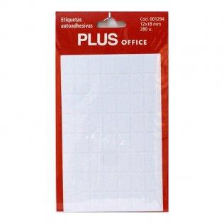 Etiquetas autoadhesivas 280 etiquetas 12x18mm 5 hojas Plus Office