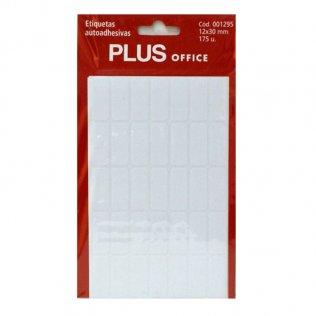 Etiquetas autoadhesivas 175 etiquetas 12x30mm 5 hojas Plus Office