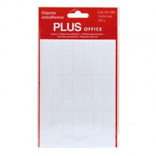 Etiquetas autoadhesivas 105 etiquetas 13x50mm 5 hojas Plus Office