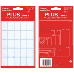 Etiquetas autoadhesivas 125 etiquetas 19x27mm 5 hojas Plus