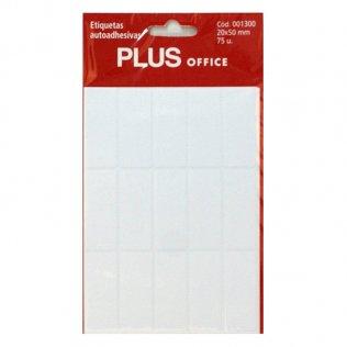 Etiquetas autoadhesivas 75 etiquetas 20x50mm 5 hojas Plus Office