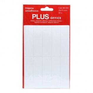 Etiquetas autoadhesivas 50 etiquetas 20x75mm 5 hojas Plus Office