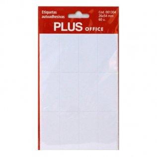 Etiquetas autoadhesivas 60 etiquetas 26x54mm 5 hojas Plus Office