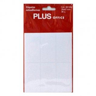 Etiquetas autoadhesivas 30 etiquetas 34x67mm 5 hojas Plus Office