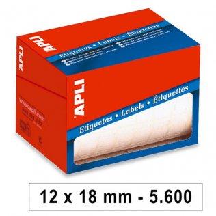 Etiquetas en Rollo 12x18mm 5600ud Apli