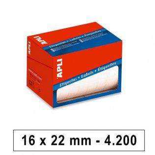 Etiquetas en rollo 16x22mm 4200ud Apli