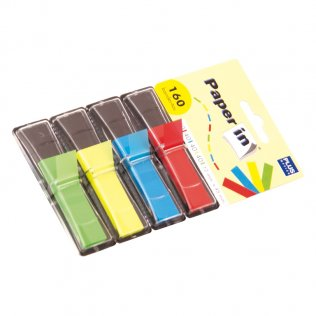 Banderitas separadoras Paper In 4 colores Plus Office