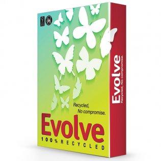 Papel A4 100% reciclado Blanco Evolve 80g 500 hojas