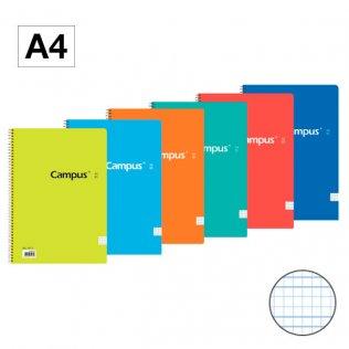 Bloc espiral Campus A4 tapa básica 70g 80h cuadrícula 3mm C.M.