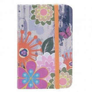 Libreta encuadernada A6 80h 80g Diseño Flores