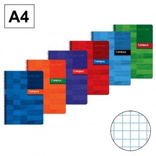 Bloc espiral Campus A4 tapa básica 90g 80h cuadrícula 4 mm