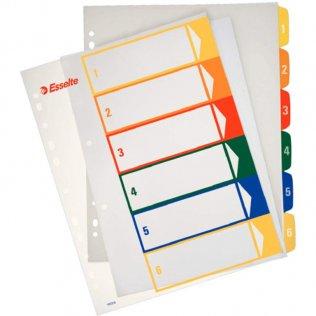 Esselte 5 separadores PP imprimibles A4+