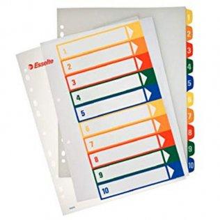 Esselte 10 separadores PP imprimibles A4+