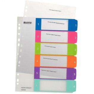 Indice imprimible Leitz WOW A4 maxi 6 separadores