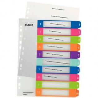Indice imprimible Leitz WOW A4 maxi 10 separadores