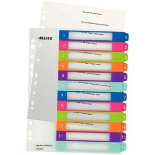 Indice imprimible Leitz WOW A4 maxi 12 separadores