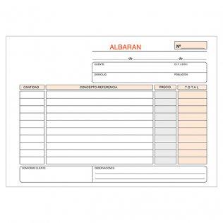 Talonario albaranes 207x145mm duplicado 50 juegos apaisado Plus Office