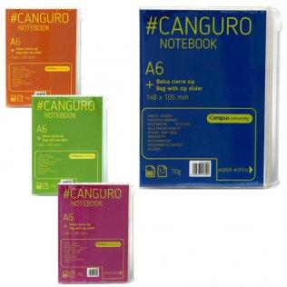Bloc Canguro Campus A6 70g 32h bolsa cierre zip rayado horizontal